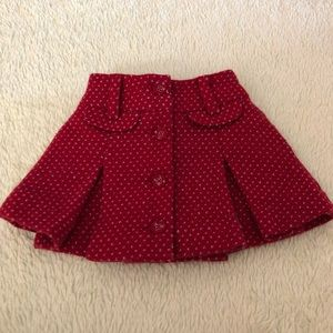 Janie and Jack - Red Skirt